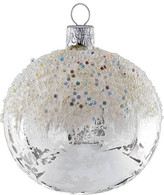 Christmas Shop Winter Bead Embellished Silver/White Ornament