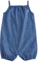 Burberry Madalyn Chambray Bubble Playsuit, Stone Blue, Size 6M-3