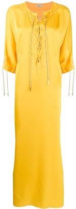Kalmar Lace-Up Detail Maxi Dress
