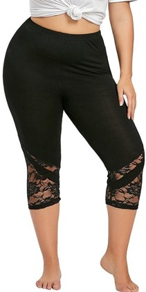 Shobdw Women's Pants Womens Trousers SHOBDW Plus Size Trousers! Women Fashion Lace Skinny High Waist Yoga Sport Pants Summer Skinny Leggings (22