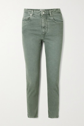 Etoile Isabel Marant Neac Cropped High-rise Slim-leg Jeans - Army green