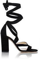 Barneys New York Women's Zea Ankle-Wrap Sandals-Black