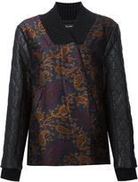 Yigal Azrouel quilted sleeve jacquard bomber jacket - women - Polyester - 4