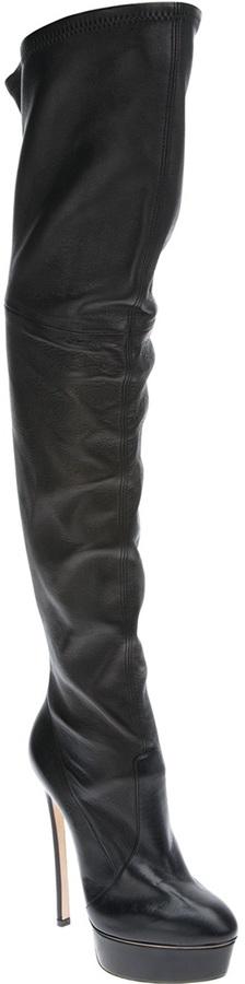 Casadei stiletto thigh length boot