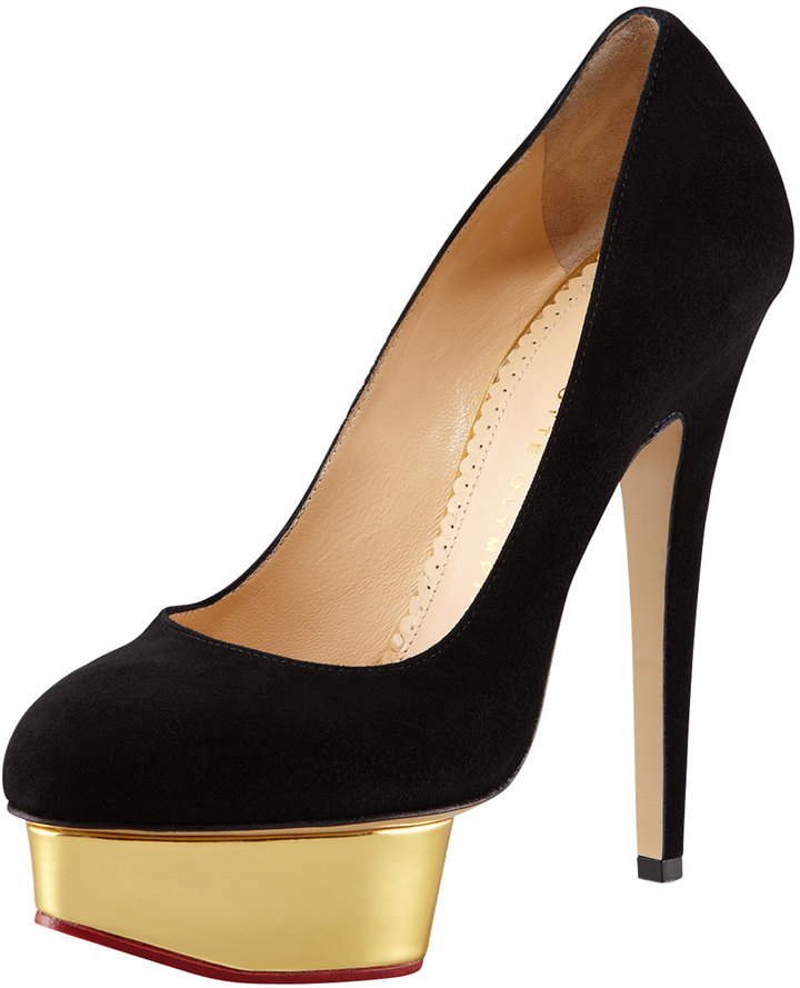 Charlotte Olympia Dolly Island Platform Pump, Black