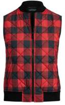 Ralph Lauren Buffalo Check Quilted Vest Red/Black Multi Xs