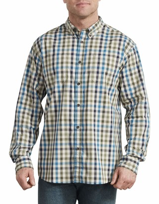 Dickies Men's Long Sleeve Flex Plaid Woven Shirt