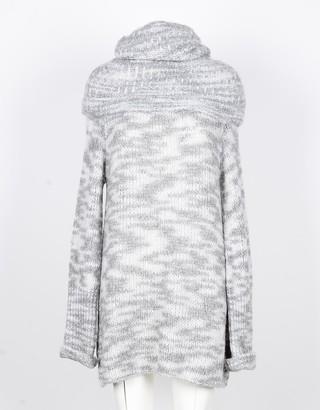 Lamberto Losani Gray Cashmere and Silk Women's Long Sweater