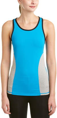 Zobha Tanner Fitted Colorblock Mesh Singlet