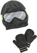 Carter's Toddler Boy Ski Goggles Beanie Hat & Mittens Set