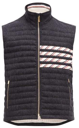 d276f44e5 4 Bar Quilted Down Wool Gilet - Mens - Navy
