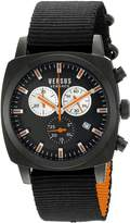 Versus By Versace Men's SOI020015 RIVERDALE Stainless Steel Watch with Canvas Strap
