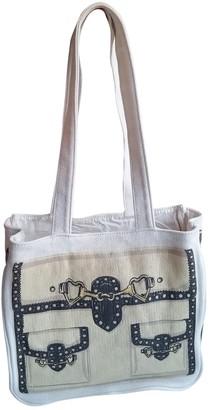 Moschino Ecru Cloth Handbags