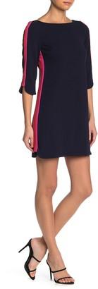 Vince Camuto Side Stripe Scuba Crepe Shift Dress (Petite)