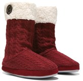 Dearfoams Women's Tall Knit Boot Slipper