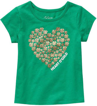 City Streets Girls Crew Neck Short Sleeve Graphic T-Shirt-Toddler