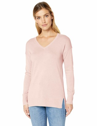Amazon Essentials Women's Lightweight Long-Sleeve V-Neck Tunic Sweater