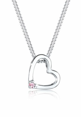 Elli Women's 925 Sterling Silver XilionCut Swarovski Crystals Necklace with Pendant of Length 45 cm