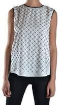 Amen Women's White/black Polyester Tank Top.