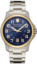 Swiss Army Victorinox 241363 Men's Officer's Blue Dial Two Tone Stainless