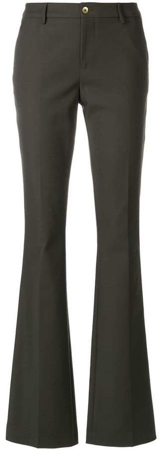 Pt01 flared high-waisted trousers