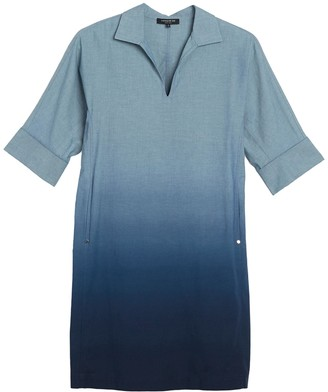 Lafayette 148 New York Nicole Dip Dyed Shirt Dress