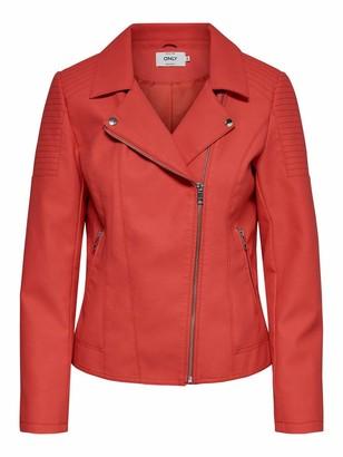 Only Women's ONLMELANIE FAUX LEATHER BIKER CC OTW Jacket