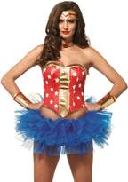Leg Avenue Women's 4 PIece Super Star Hero Costume Kit