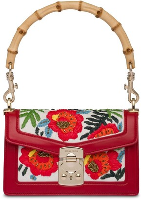 Miu Miu Floral-Embroidered Shoulder Bag