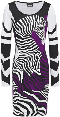 Just Cavalli Zebra-print Stretch-jersey Mini Dress