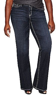 JCPenney a.n.a® Thick-Stitch Bootcut Jeans - Plus