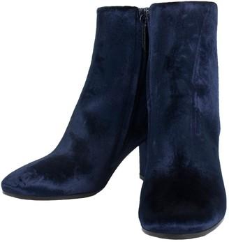 Balenciaga Blue Velvet Boots