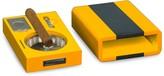 Bey-Berk Bey Berk 5-Piece Stainless Steel Cigar Ashtray, Cigar Rest, Cigar Cutter, Cigar Punch & Case Set