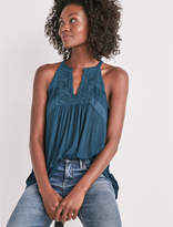Lucky Brand Embroidered Halter Tank