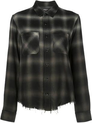 Amiri Ombre Plaid Shirt