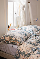Urban Outfitters Beatrice Floral Tie-Trim Sham Set