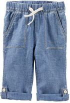 Carter's Baby Boy Linen-Blend Convertible Pants