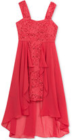 Rare Editions Chiffon & Lace Hi-Low Dress, Big Girls (7-16)