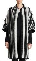 Akris Punto Striped Wool Cardigan