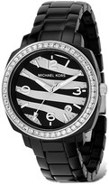 MICHAEL Michael Kors Black Print Watch with Black Strap, 40 mm