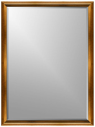 """Expressions Gold Roundover Wall Mirror, 26"""" X 32"""", Flat"""