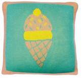 MIMI'LOU 25x25cm Ice-cream Cone Cushion