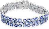 JCPenney FINE JEWELRY LIMITED QUANTITIES Genuine Tanzanite Large 3-Row Bracelet