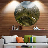 DESIGNART Design Art Trekking Patch in Tatra Mountains UltraVibrant Landscape Oversized Circle Wall Art