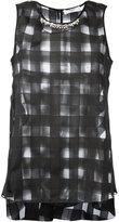 Blugirl sheer square-cut blouse - women - Polyester - 44