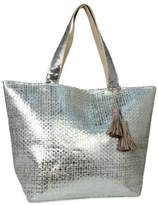 GLITZ & GLAM Metallic Beach Tote