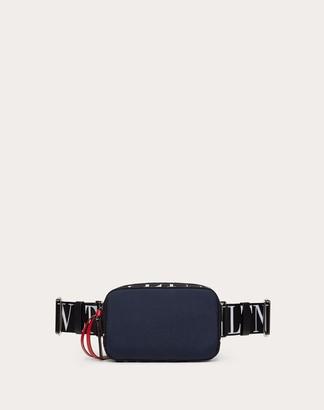 Valentino Garavani Uomo Vltn City Belt Bag Man Dark Blue Polyester 45%, Polyamide 39%, Polyurethane 16% OneSize