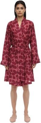 Derek Rose Ledbury Flower Print Cotton Kimono