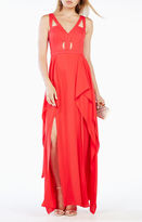 BCBGMAXAZRIA Juliana Cutout Ruffle Gown