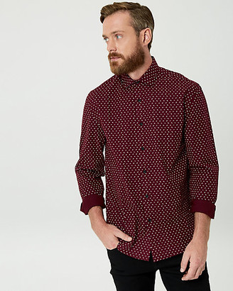 Le Château Arrow Print Cotton Tailored Fit Shirt